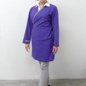 lab coat purple front