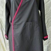 lab coat grey pink