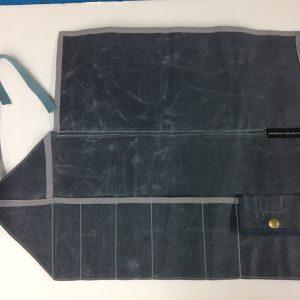 1. tool organizer waxed canvas open
